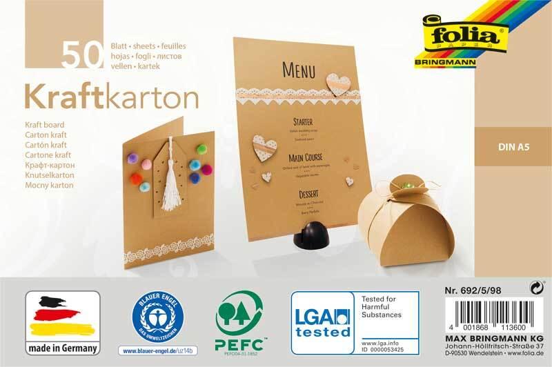 Kraftkarton - A5, 50 Blatt