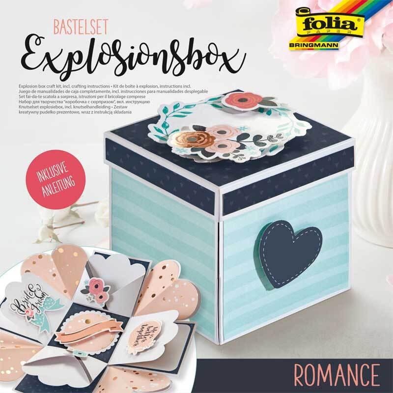 Explosionsbox Bastelset - Romantik
