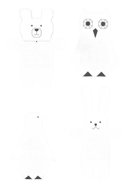 Stickkarton Motive - Tiere