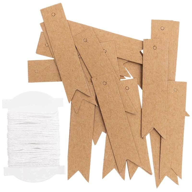 Papieranhänger - Fahne, Kraftpapier, 24 Stk.