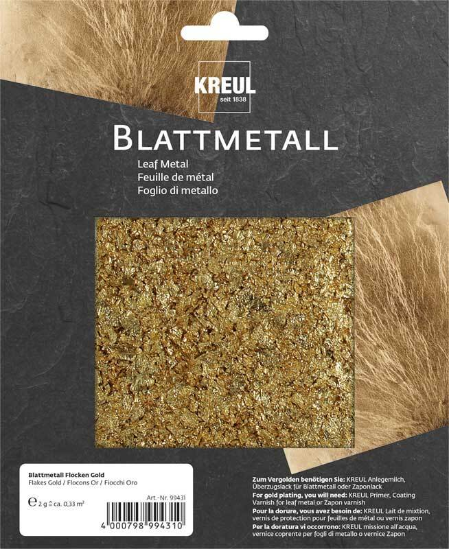 Blattmetall Flocken, gold