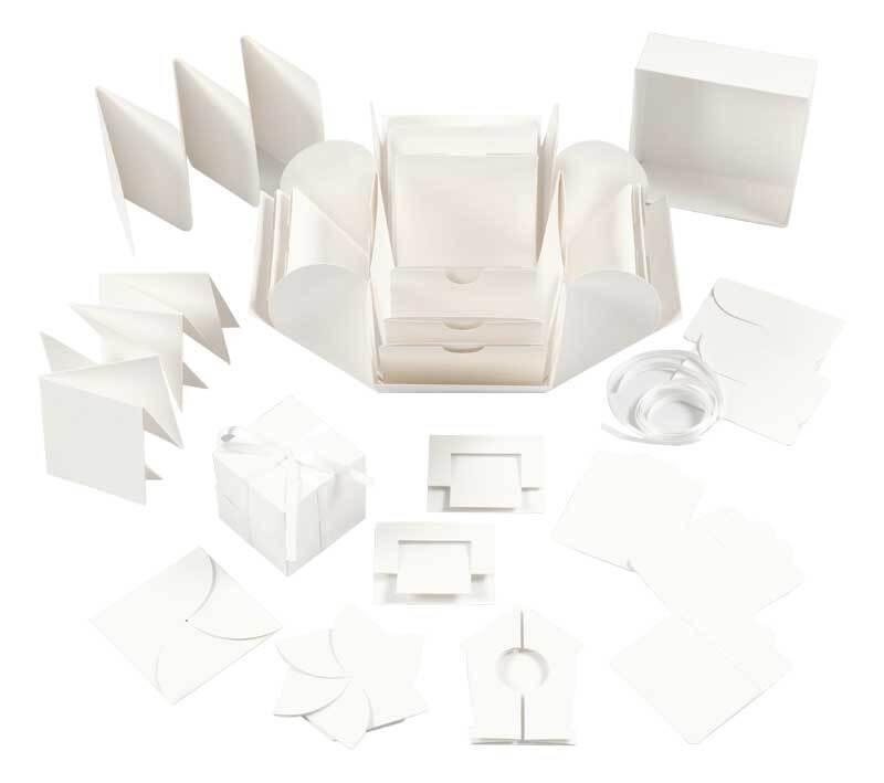 Explosionsbox - weiß