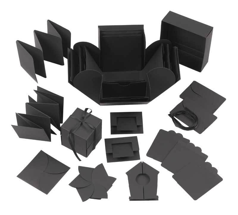 Explosionsbox - schwarz