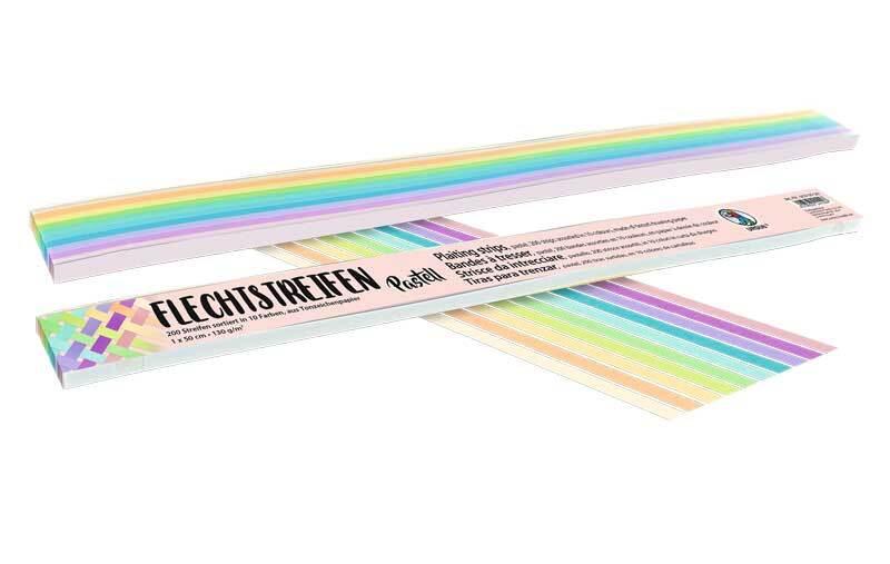Flechtstreifen pastell, 1 x 50 cm