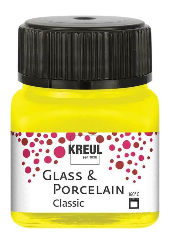 Porzellanfarbe - 20 ml, kanariengelb