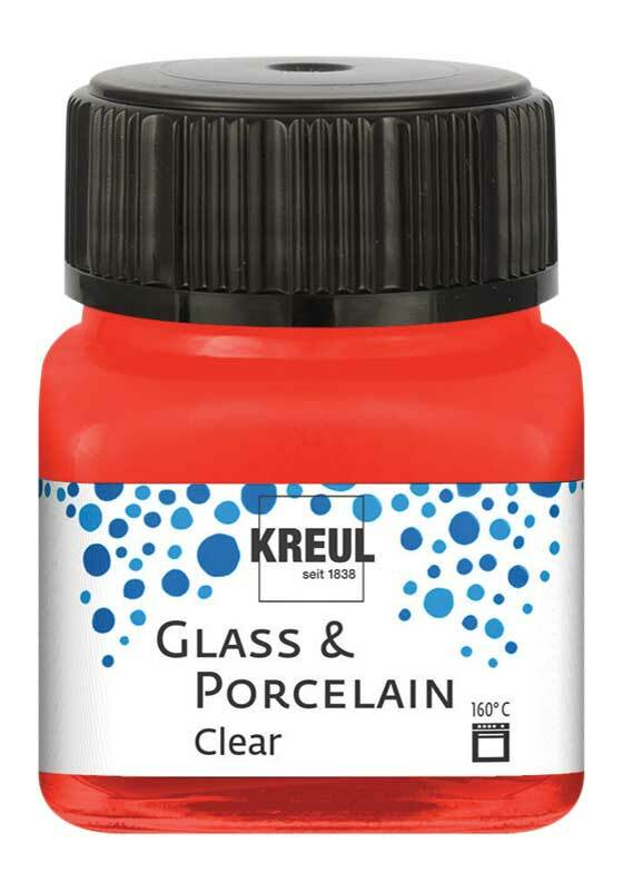 Porseleinverf - 20 ml, kersenrood