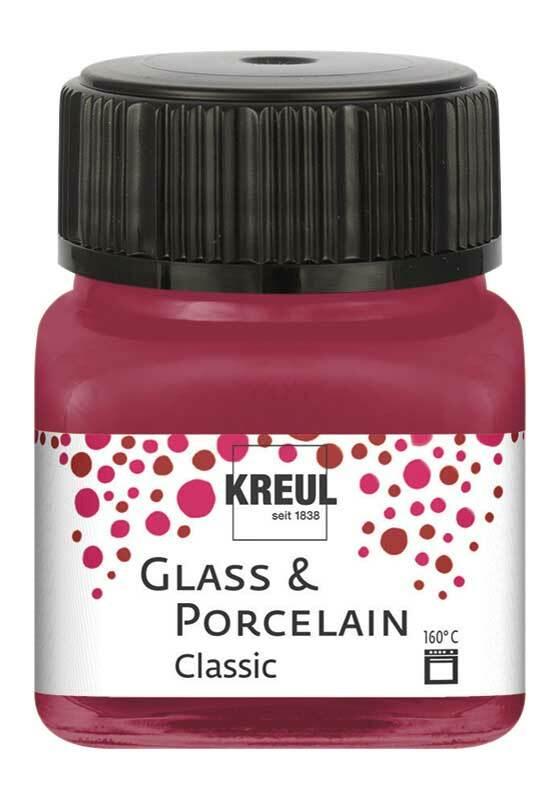 Peinture pour porcelaine - 20 ml, rouge grenat