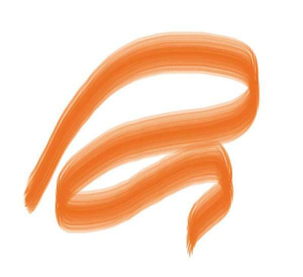 Porseleinverfstift met penseelpunt, oranje