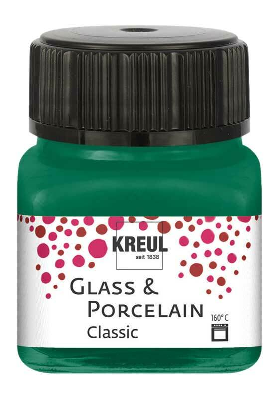 Porzellanfarbe - 20 ml, dunkelgrün