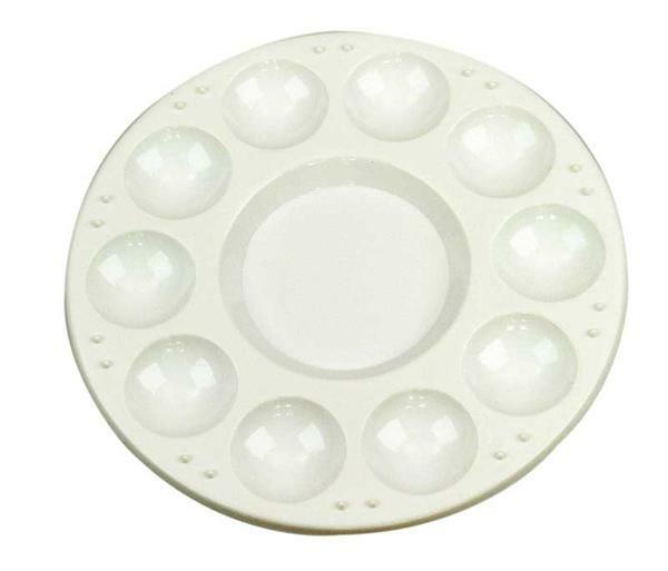 Palette en plastique - blanc, Ø 17cm