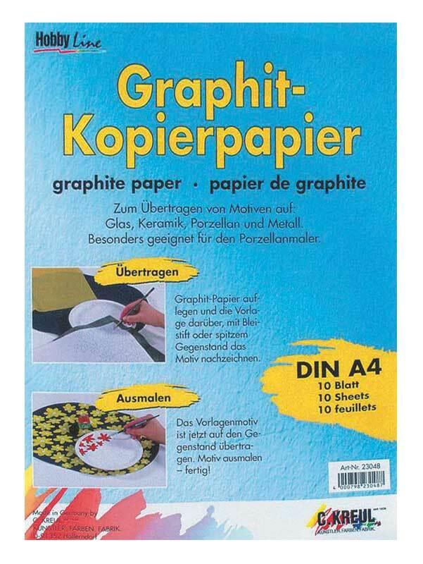 Graphitpapier (grafietpapier) - A4, 10 vel