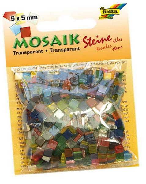 Mozaïekstenen set 45 g - transparant, 5 x 5mm