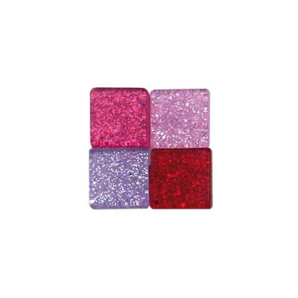 Mosaik Glitter Mix - 5 x 5 mm, pink