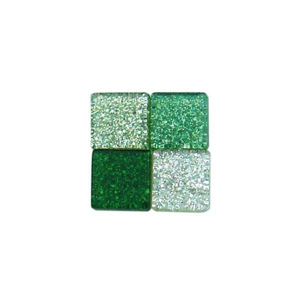 Mozaïek glitter mix - 5 x 5 mm, groen
