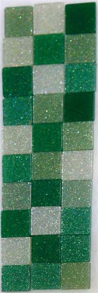 Mosaïque mélange pailletée - 5 x 5 mm, vert
