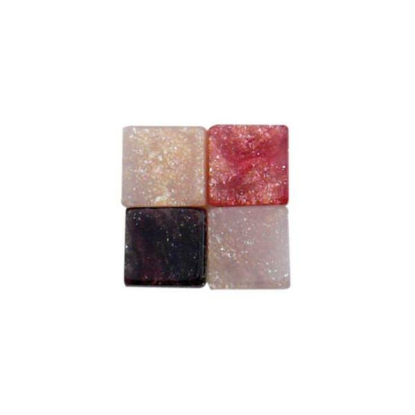 Mosaik Marmorierter Mix - 5 x 5 mm, rot