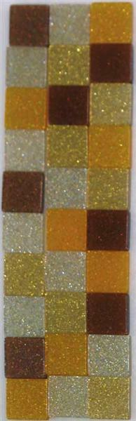 Mosaik Glitter Mix - 5 x 5 mm, braun