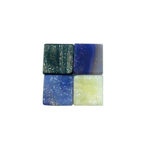 Mosaik Marmorierter Mix - 5 x 5 mm, blau