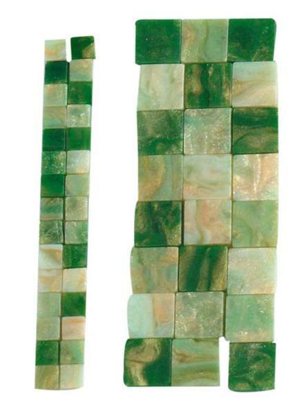 Mozaïek gemarmerde mix - 5 x 5 mm, groen