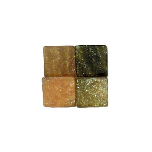 Mosaik Marmorierter Mix - 5 x 5 mm, braun