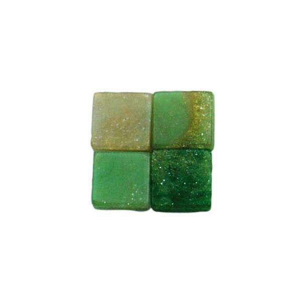 Mosaik Marmorierter Mix - 5 x 5 mm, grün
