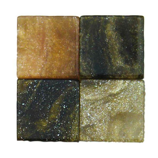 Mozaïek gemarmerde mix - 10 x 10 mm, bruin