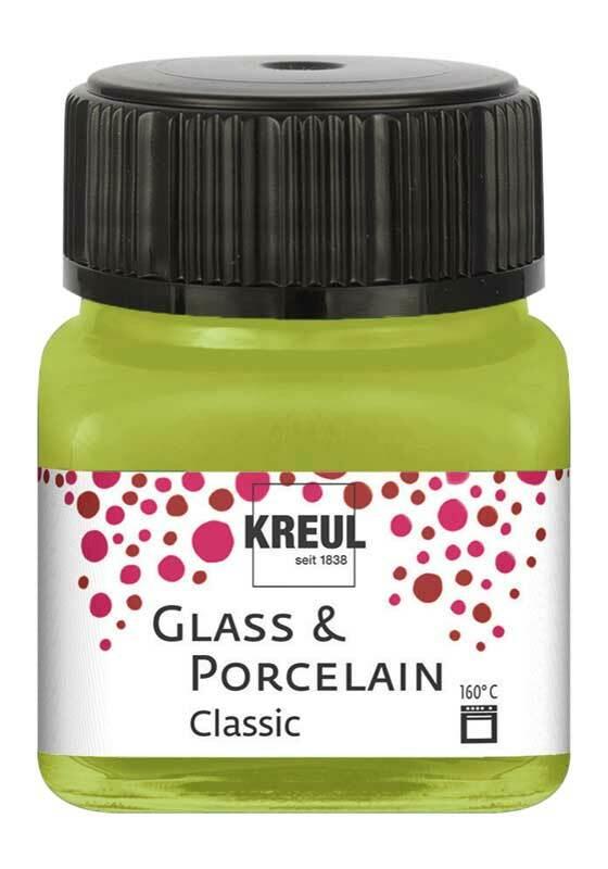 Porzellanfarbe - 20 ml, gelbgrün
