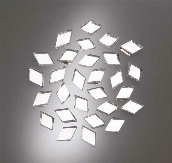 Mozaïek spiegelstenen - 100 g, ruitvormig, 15 x 10