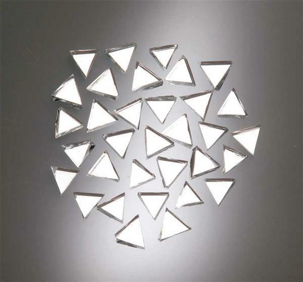Mozaïek spiegelstenen - 100 g, driehoek, 8 mm