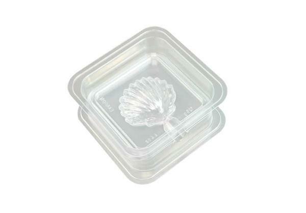 Zeepgietvorm - 2-delig, 125 g, schelp
