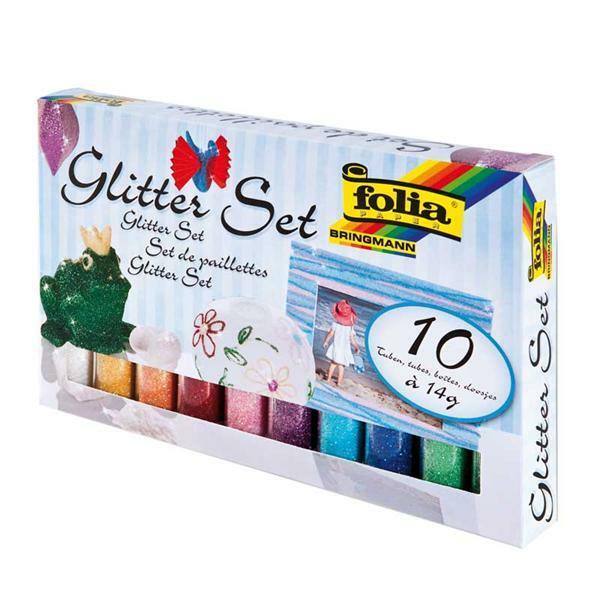Glitterpoeder set - 10 x 14 g