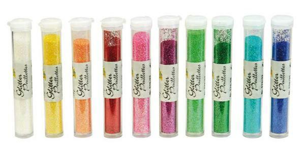 Glitterpulver Set - 10 x 14 g