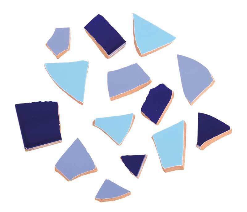 Mosaik Keramik Bits - 1000 g, blaumix