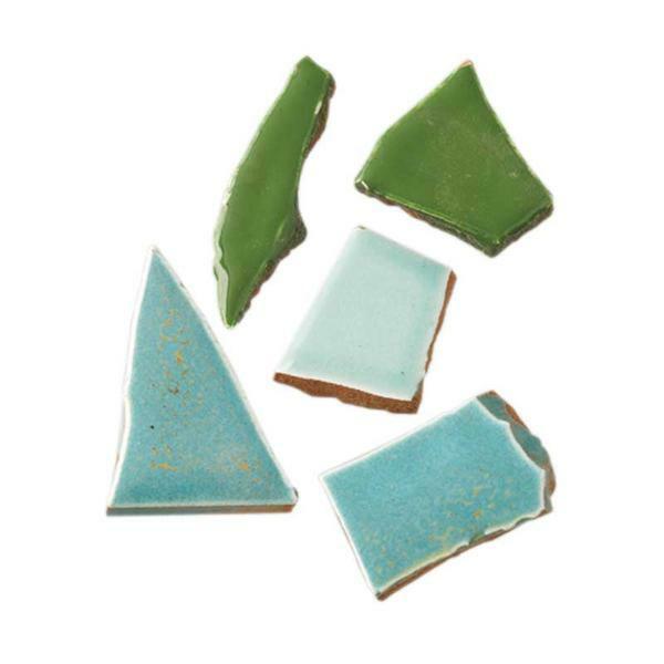 Mosaik Keramik Bits - 1000 g, grünmix