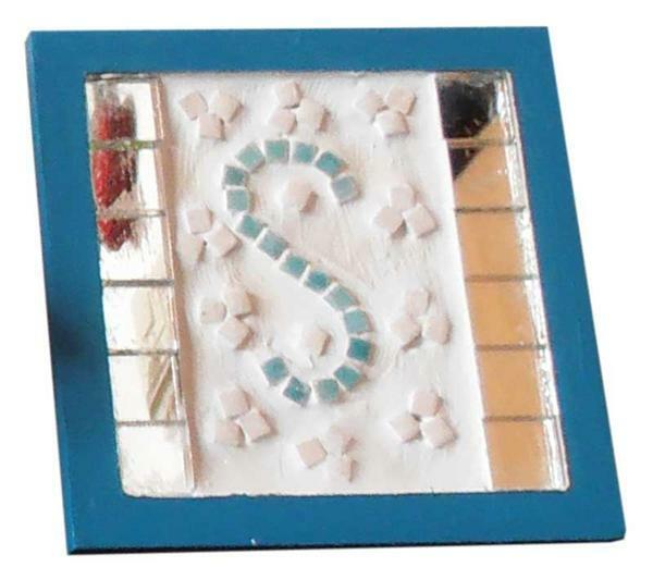 Mozaïek onderzetter - vierkant, 110 x 110 mm