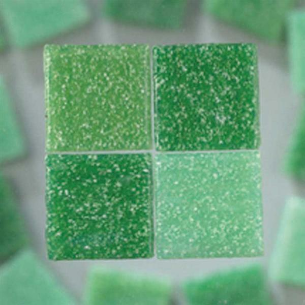 Mozaïek glasstenen 1000 g - 10 x 10 mm, groen mix