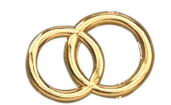 Wachsdekor - Ringe, gold