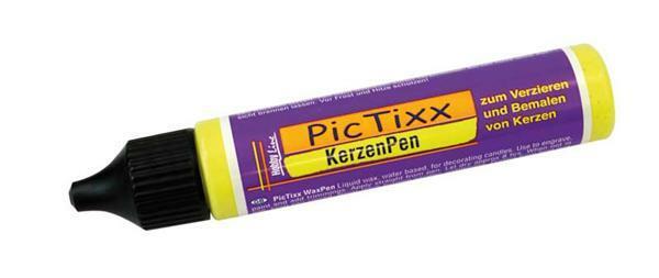 Pic Tixx kaarsenpen - 29 ml, geel