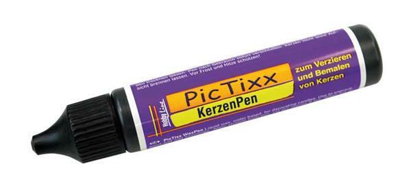 PicTixx Kerzenpen - 29 ml, schwarz