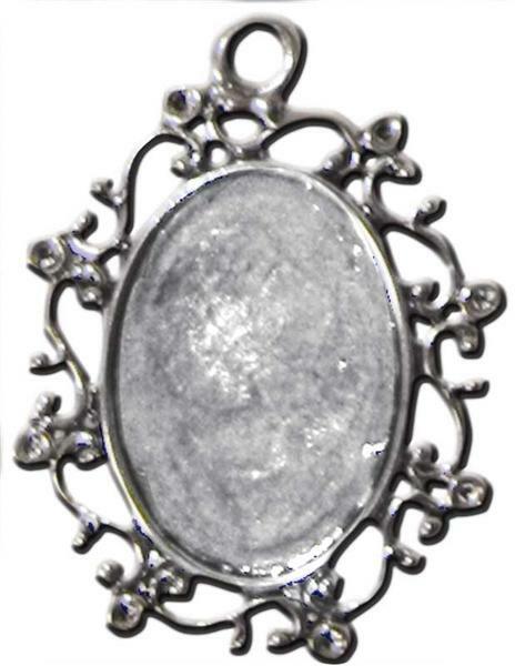 Kaltglasur - Schmuckrohlinge, Anhänger oval