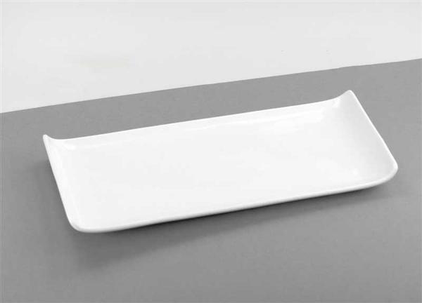 Porzellan - Teller, 12 x 25,5 cm