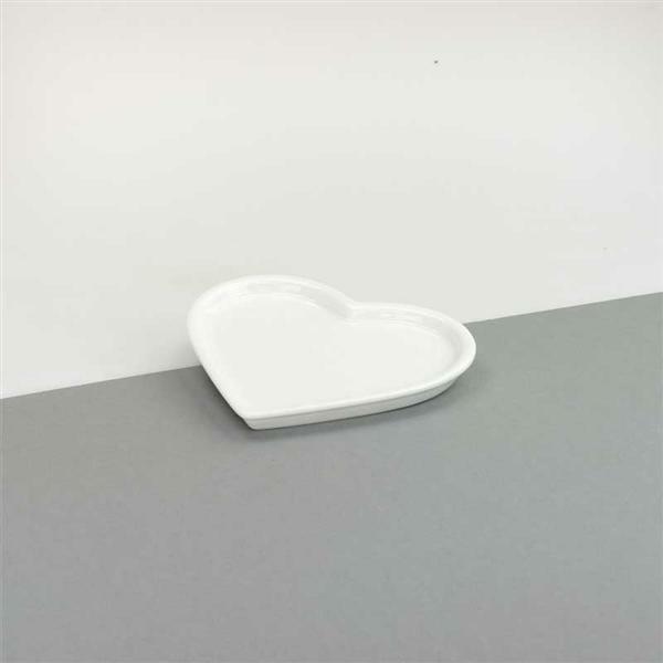 Porzellan - Herz Teller, 9,5 x 12 cm