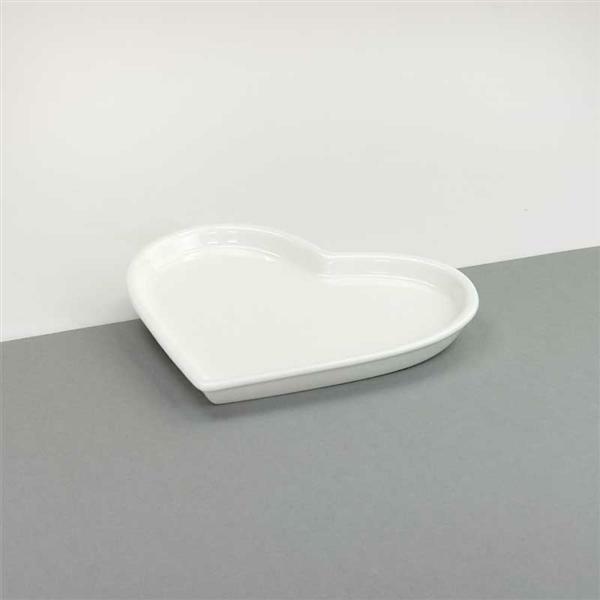 Porzellan - Herz Teller, 13,5 x 16 cm