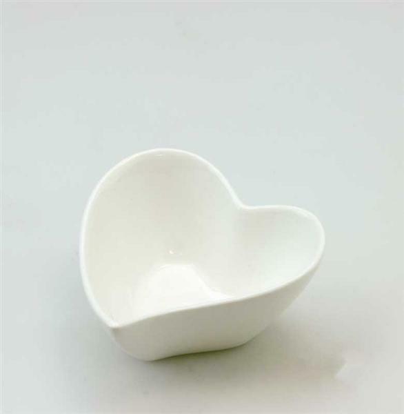 Porzellan - Herzschüssel, 7,5 cm