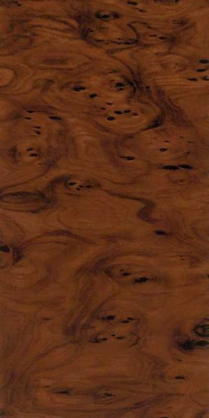 Versierwasplaat - wortelhout effect, bruin