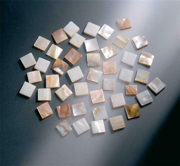 Parelmoer mozaïek - 10 x 10 mm, 200 g