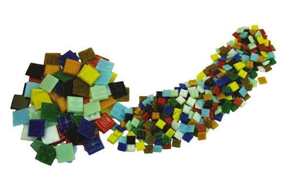 Mosaik Glassteine 200 g - 10 x 10 mm, bunt