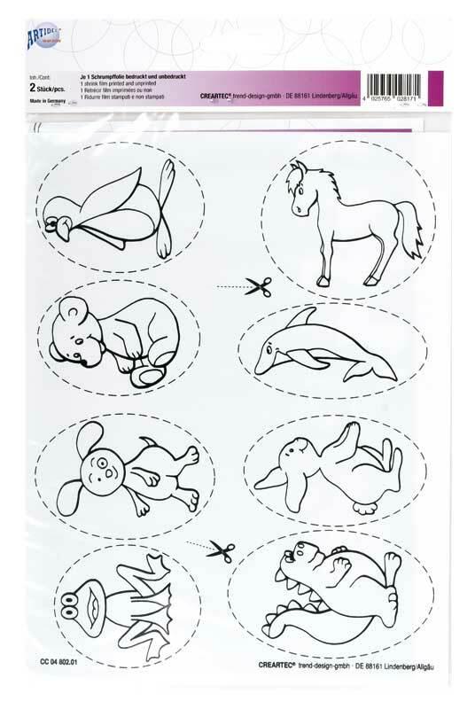 Set Plastique Fou, pendentifs animaux