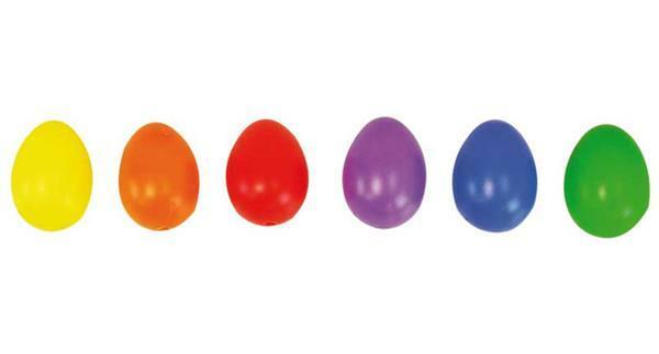 Plastic eieren - bont, 25 x 38 mm, 30 stuks