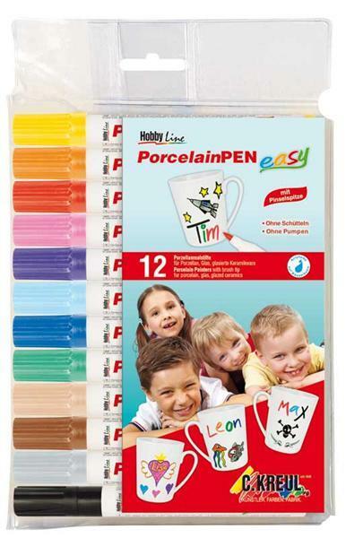 Porseleinstiften, 12 stuks